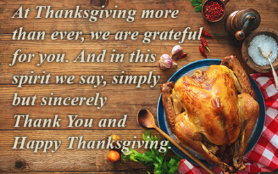 A Reprieve for Thanksgiving